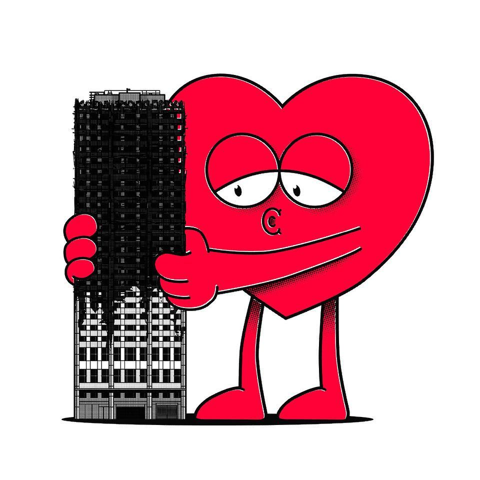 We're raising money for Grenfell families through the sale of the limited edition art print 'Hugs for Grenfell' by Ronzo The print is available now at www.artappeal.org  The price is £25 (+ £4 UK postage)  This is a great opportunity to combine your love of art with donating money for a good cause. Since over 10 weeks ago, when the horrible event took place, the majority of the survivors are still in need of our help.  Buying this print is a very quick and effective way to help those affected. All profits from the sales will go to the families of Grenfell Tower via local organisation 'Love4Grenfell' (www.love4.london) who will pass it on directly to the families, while avoiding long delays and the administration costs of bigger charities