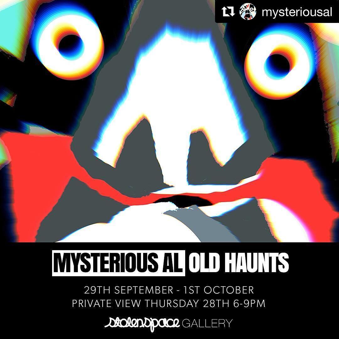 All come here tomorrow evening!!! @mysteriousal displays new paintings and paper works. Don't miss this… @stolenspacegallery